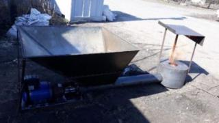 Burner for sawdust, husk sunflower pellets for all kinds of t